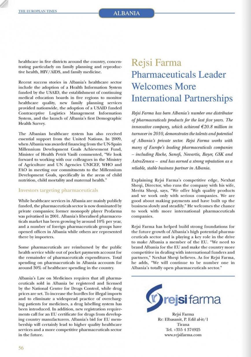 The European times talks about Rejsi Farma